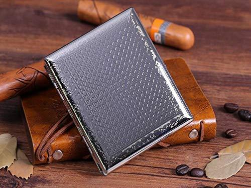JYWY Cigarette Box Creative Gift Cigarette Case Can Hold 20 Cigarettes, Titanium Alloy Cigarette Case Suitable for Smokers, Size 11 7.2 2.0 cm, Silver (Color : 11.0CM7.22.0, Size : SilverC)