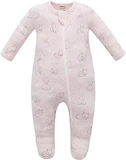 Organic Cotton Baby Pajamas, Boys Girls Zip Front Sleep 'N Play, Footed Sleeper, Long Sleeve