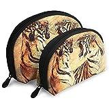 The Bengal Tiger Animal Predator Battle Bolsas portátiles Bolsa de Maquillaje Bolsa de Aseo Bolsas de Viaje portátiles multifunción con Cremallera