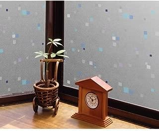 玻璃薄膜 空气很好 宽90×长46cm 蓝色 46cm×90cm -