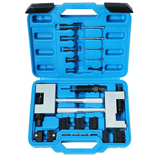 Engine Timing Chain Removal Installer Breaker Assembly Tools Kit Riveting Tool Double Camshaft Disassembler Compitable with Mercedes Benz M271 M272 M273 M274 M276 Chrysler Replacemen for Jeep