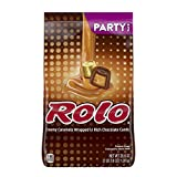 ROLO Chocolate Caramel Candy with Milk Chocolate Candy, Party Bag, 35.6 Oz