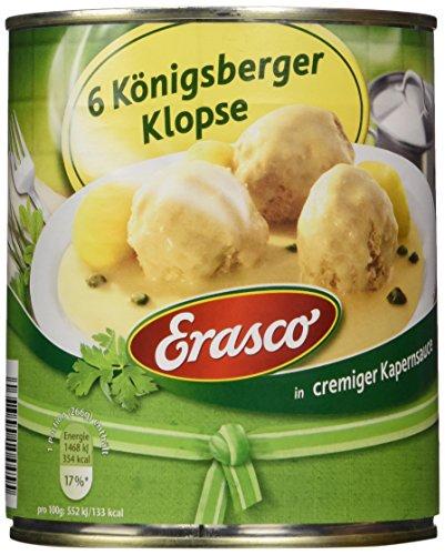 Erasco 6 Königsberger Klopse i. Kapernsauce , 2er Pack (2 x 800 g Dose)