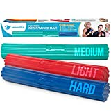 Serenilite Flexible Resistance Bar | Grip Strength Trainer, Resistance Band, Forearm Exerciser Workout | Flexbar for Tennis Elbow, Golfers Elbow, Physical Therapy, Pain Relief, Tendonitis, Recovery