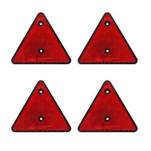MiOYOOW Auto-Reflektor-Aufkleber, 4 Stück, dreieckig, für Anhänger, Motorrad, LKW, Fahrzeug