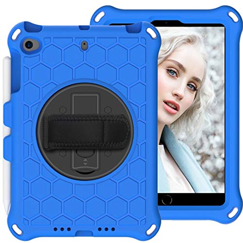 JIANWU Cover, For Kids Case for iPad Mini 5 4 3 2 1, Lightweight and Full-Body Shockproof EVA Case Cover with Built-in Foldable Kickstand and Grip Handle Rugged Heavy Duty Shockproof Rotating