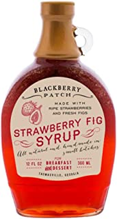 Strawberry Fig Syrup 12 Fl Oz Bottle