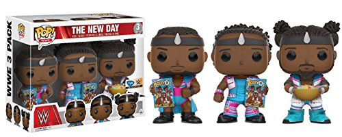 Pop Funko Vinyl WWE New Day Booty Os 3 Pack - Woods, Big E and Kofi