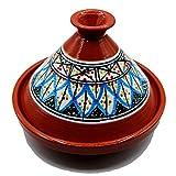 Tajine Pentola Terracotta Piatto Etnico Marocchino Tunisino M 22cm 3010201121