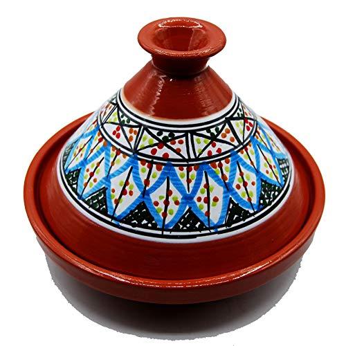 Tajine 3010201121 Topf aus Terrakotta, Teller ethnisch, marokkanisch, Tunesien, M 22 cm
