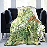 Princess and The Frog Blanket Bedding Flannel Fleece Soft Microfiber Throw Blanket for All Season Air Conditioning Blankets Fashion Print Warm Blanket for Living Rooms and Bedrooms