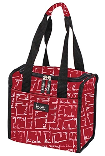Nicole Miller 11' Insulated Lunch Box Portable Cooler Bag - Signature Red