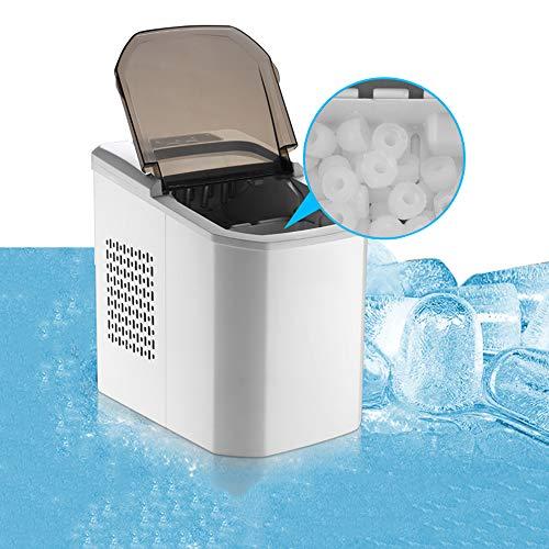 WYZQQ Eiswürfelmaschine Arbeitsplatte, Gewerbliche/Haushalts-Eismaschine, Stumm, 15 Kg EIS / 24H, 9 Eiswürfel Fertig In 8 MIN (Bullet Ice Cubes) 2 Size Ice Cube