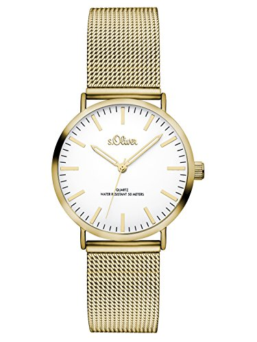 S.Oliver Damen Analog Quarz Armbanduhr SO-3271-MQ