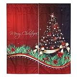 Fabater - Cortina navideña de fibra de poliéster, cortina para ventana (150 x 166 cm, S4)