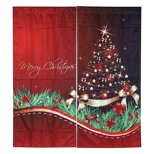 Fdit Tenda Natalizia Impermeabile Tenda Decorativa per finestre Ornamenti Natalizi per la casa Soggiorno Decorazioni per Le Vacanze(170 * 200cm-4#)