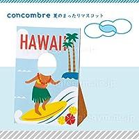 デコレ(decole)コンコンブル(concombre)夏のまったりマスコット顔ハメ看板:ハワイアンビーチ