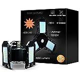 Motion Sensor LED Garage Lights - 8000LM 80W LED Garage Lighting - Deformable