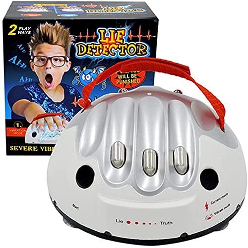 ANGAZURE-IT Poligrafo, Shock Elettrico Regolabile Micro Shock Elettrico Rivelatore Bugia Test Truth Adventure Game
