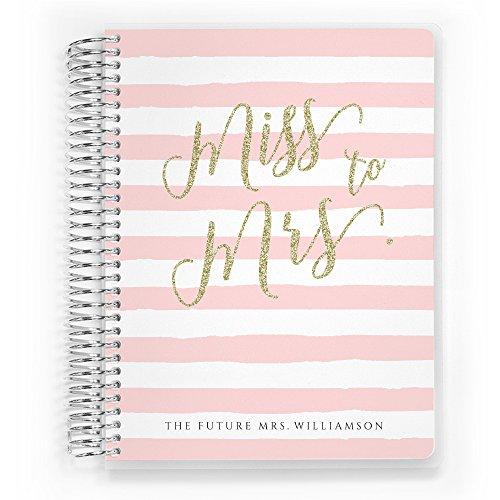 Customized Wedding Planner, Custom Engagement Gift, Wedding Organizer, Bride Planner, Miss to Mrs Wedding Planner, 8.5 inch by 11 inch Wedding Planner