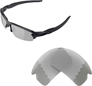 Walleva Replacement Lenses for Oakley Flak 2.0 Sunglasses - Multiple Options Available