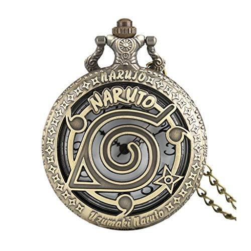 XJJZS Reloj de Bronce de Moda Reloj de Bolsillo de Cuarzo Colgante Moderno Relojes de Mujer Reloj de Regalo para niños