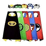 Sinoeem Capa de Superhéroe para Niños - 5 Capa y 5 Máscaras - Ideas...