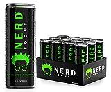 NERD FOCUS Zero Calorie   Nootropics and Adaptogens   Vitamin B2, B3, B6, and B12   Contains DMAE, Ginkgo Biloba, Gaba, Alpha GPC   12 Fl Oz (Pack of 12) (Nerd Focus Zero) (Original)