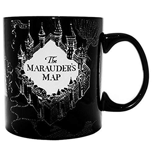 N\A Silver búfalo hp1034hb Harry Potter y el Prisionero de Azkaban merodeador 's Mapa Calor Revela Taza de cerámica,