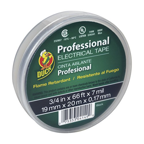 Duck Brand 299019 Professional Grade Electrical Tape, 3/4-Inch by 66...