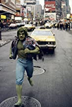 Lou Ferrigno in The Incredible Hulk Times Square New York yellow cab running 18x24 Poster