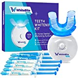 Whitebite Pro Teeth Whitening Kit with LED Light for Sensitive Teeth, Tooth Whitening System with 35% Carbamide Peroxide, (4)3ml Gel Syringes, (2)Remineralization Gel, and Mouth Tray, 7 Piece Set
