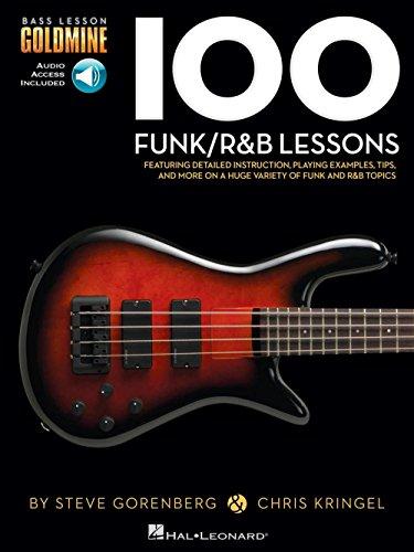 Bass Lesson Goldmine: 100 Funk/R&B Lessons (Book/Online Audio). Partituras, Downloads para Guitarra Bajo