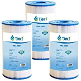 Tier1 Pool & Spa Filter Replacement for Watkins 31489 Spa Filters and for Hot Spring Pool & Spas - Pleated Water Filter to Reduce Water Contaminants - 3 Pack
