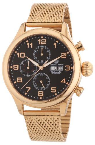 Constantin Durmont Herren-Armbanduhr XL Arapaho Analog Automatik Edelstahl beschichtet CD-ARAP-AT-RGM3-RGRG-BK