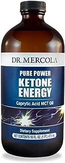 Dr. Mercola, Pure Power Ketone Energy Caprylic Acid MCT Oil, 16 FL oz (1 PT.) 473 mL, 32 Servings, non GMO, Soy-Free, Gluten Free