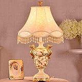 LXGANG Lampada da tavolo Lampade da tavolo, di personalità stile semplice europea Soggiorno Camera da letto Comodino creativa Lampada, illuminazione del panno della resina di lettura luce di notte