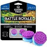 KontrolFreek FPS Freek Battle Royale Performance Thumnbsticks for PlayStation 4 (PS4) Controller | 2 High-Rise Convex | Purple