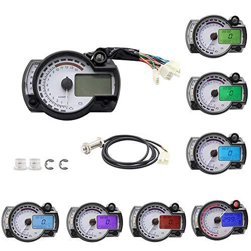 CENPEN Motorrad-Digitaltacho LCD-Anzeige Tachometer Tachoentfernungsmesser-Instrument