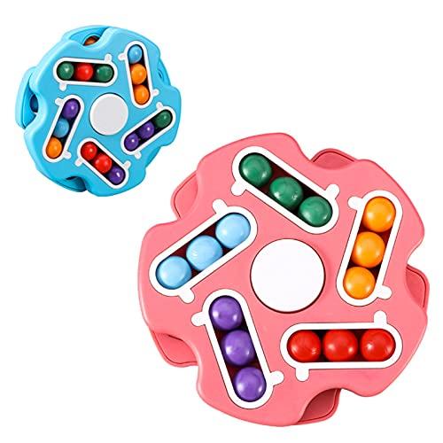 Juego de Rompecabezas, artefacto de descompresión, Top Cubo de los Dedos, Rompecabezas, el Cerebro más poderoso, desarrolla Inteligencia, 2 Paquetes