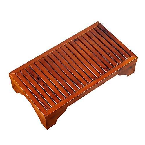 Xiao Jian nachttafelvoetbank van massief hout, kruk om te baden voor kinderen nachtkastje 66 x 33 cm opstapje