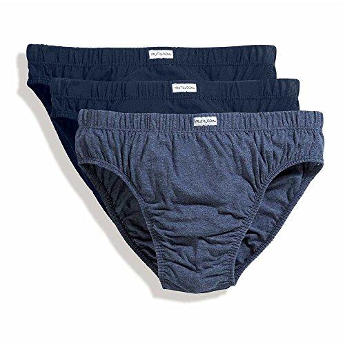 Fruit of the Loom mens Fruit of the Loom Mens Classic Slip 3 Pack Underwear Blues XL - Waist 42/44\