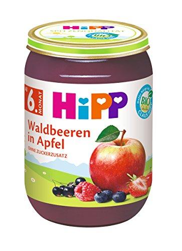 HiPP Früchte Waldbeeren in Apfel, 6er Pack (6 x 190 g)