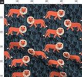 Löwe, Safari, Blockdruck, Löwen Stoffe - Individuell