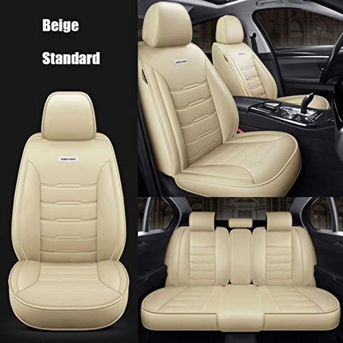 JYPZSH Coprisedile Auto Universale per Toyota Corolla Camry Rav4 Auris Prius Yalis Avensis SUV Accessori Auto-Beige