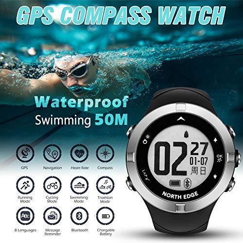 Sue-Supply Intelligente Sportuhr, Herzfrequenzuhr GPS Schrittzähler Multifunktionsuhr Wasserdichte Kompassuhr