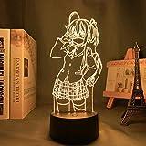 Luz nocturna 3D LED ilusión Anime Lámparas Rikka Takanashi Led Luz de Noche para Dormitorio Decoración Luz de Noche Regalo de Anime Lámpara