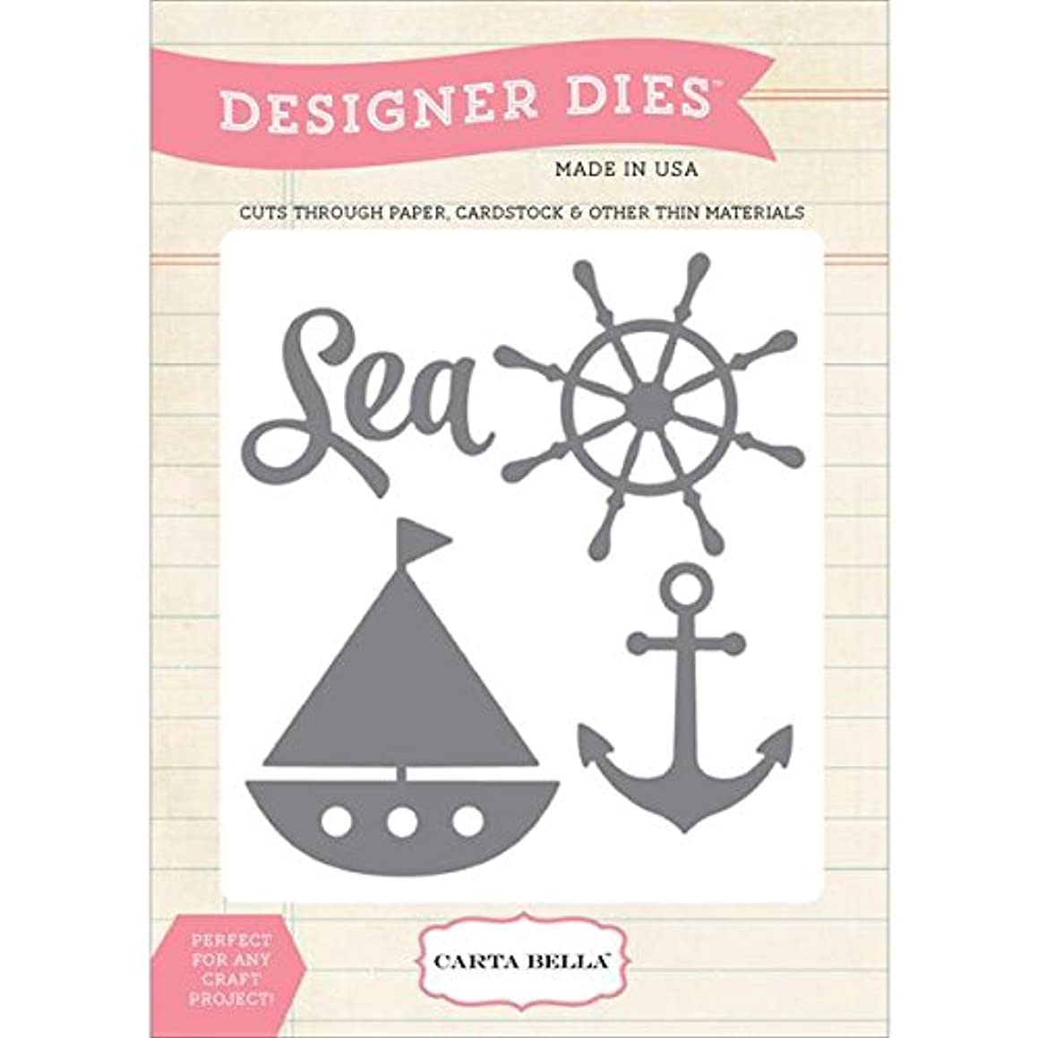 Carta Bella Paper Company CBM-Die1 Sea Ship and Anchor Die Scrapbook
