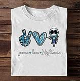 Peace Love Nightmare Jack Skellington Shirt, The Nightmare Before Christmas Shirt