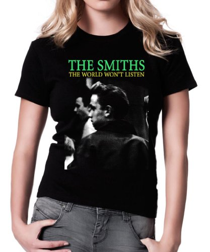 de Morrissey and The Smiths The Smiths The World Won'T Listen Camiseta para Mujer.